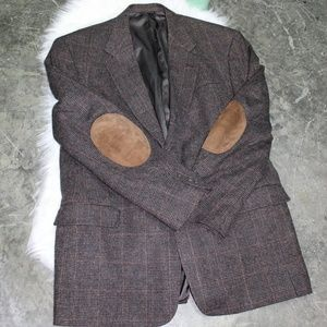 VTG Austin Reed Dillards Tweed Sport Coat Patches